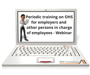 Periodic training on OHS for employers and other persons in charge of employees EN